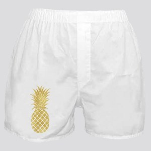 Gold Glitzy Pineapple Boxer Shorts