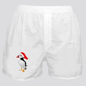 Christmas Puffin Boxer Shorts