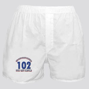 102 year old birthday designs Boxer Shorts