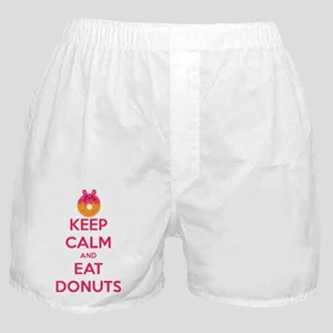 Keep Calm And Eat Donuts Boxer Shorts