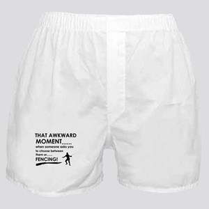 Fencing sports designs Boxer Shorts