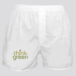 Think Green [text] Boxer Shorts