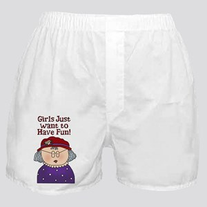 Girsl Just want to have fun Boxer Shorts