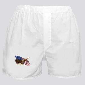 American Flag and Eagle Boxer Shorts