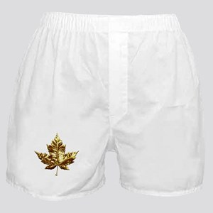 Canada Boxer Shorts Underwear Gold Maple Leaf