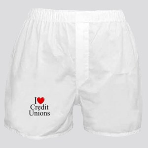 """I Love (Heart) Credit Unions"" Boxer Shorts"