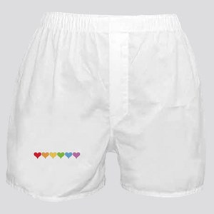 Rainbow Hearts Boxer Shorts