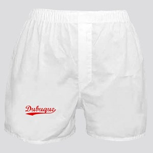 Vintage Dubuque (Red) Boxer Shorts