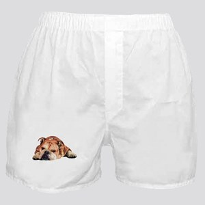 English Bulldog Art Portrait Boxer Shorts