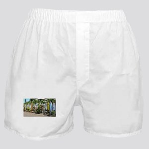Surf board fence on Maui Boxer Shorts