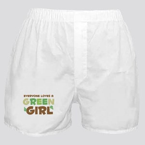 Loves A Green Girl Boxer Shorts