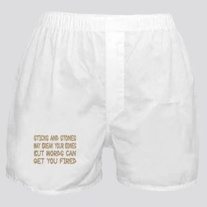 Sticks And Stones Boxer Shorts