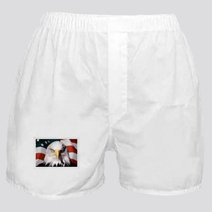 American Bald Eagle with Flag Boxer Shorts