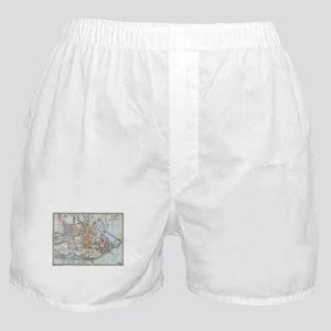 Vintage Map of Quebec City (1894) Boxer Shorts