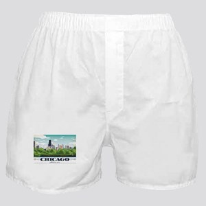 Chicago, Illinois Boxer Shorts