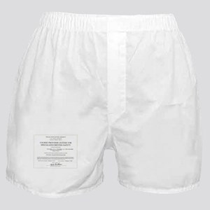 Driving Certificate Boxer Shorts