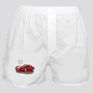 Viper Red/White Car Boxer Shorts
