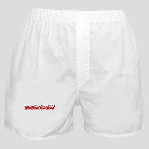 Embroidery Heart Design Boxer Shorts