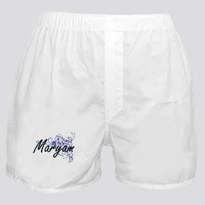 Maryam Artistic Name Design with Flow Boxer Shorts