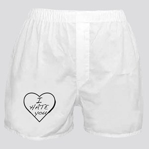 I hate you Love Boxer Shorts