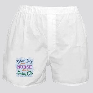 Behind Nurse, Running CNA Boxer Shorts