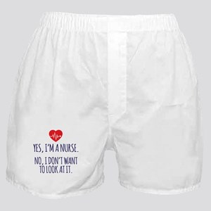 Nurse Doesn't Want to Look at It Boxer Shorts