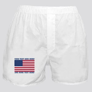 Personalized Patriotic American Flag Classic Boxer
