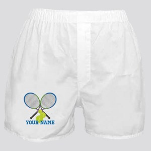 Personalized Tennis Player Boxer Shorts
