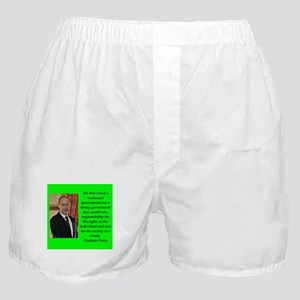 Vladiir Putin Quote Boxer Shorts