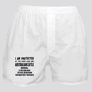 I am protected by the good lord and A Boxer Shorts