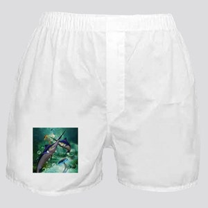Awesome marlin with jellyfish Boxer Shorts