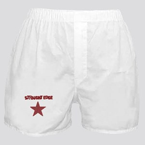 Straight Edge - Red with Star Boxer Shorts