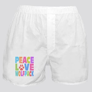Peace Love Wolf Pack Boxer Shorts