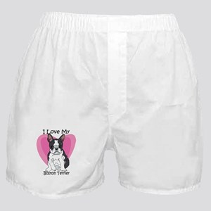 I Luv My Boston Terrier-2 Boxer Shorts
