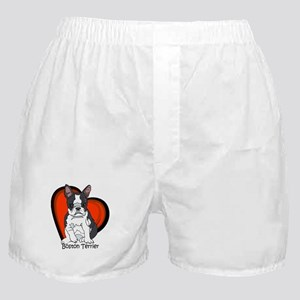 Boston Terrier Red Heart Boxer Shorts