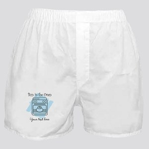 Bun in the Oven (blue) Boxer Shorts