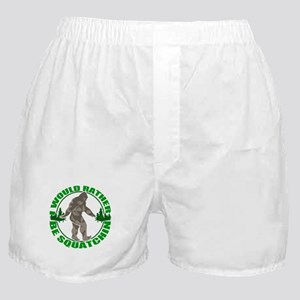 Rather be Squatchin G Boxer Shorts