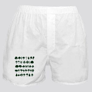 Tree Silhouettes Green 1 Boxer Shorts