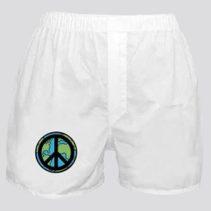 Peace on Earth in Black Boxer Shorts
