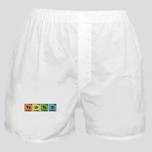 Personalized Your Text Periodic Table Boxer Shorts
