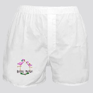 Dancing Pink Flamingos - Boxer Shorts