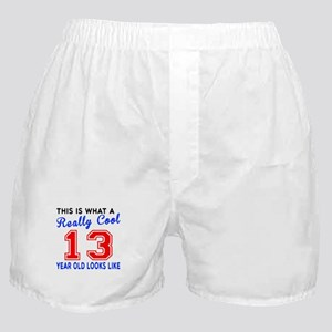Really Cool 13 Birthday Designs Boxer Shorts