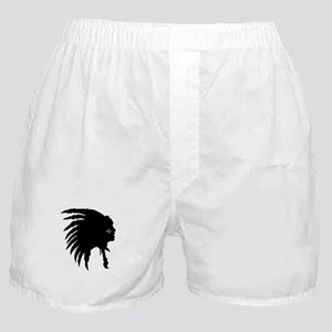 Native American Silhouette Boxer Shorts