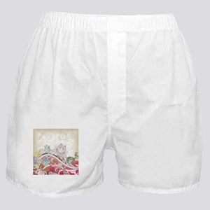 Abstract Floral Boxer Shorts