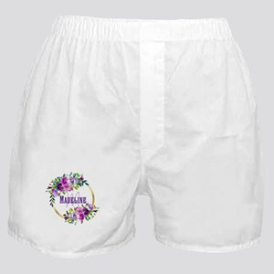 Purple and Gold Monogram Boxer Shorts