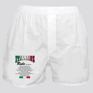 Italians rule T-Shirt Boxer Shorts
