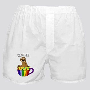 Funny Sloffee Sloth Coffee Boxer Shorts