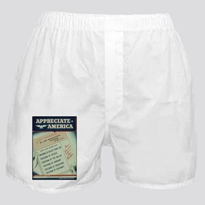 world war 2 poster art Boxer Shorts