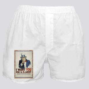 WWI US Army Uncle Sam I Want You Boxer Shorts