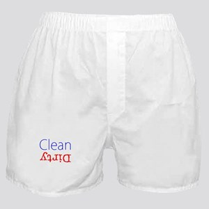Funny Clean Dirty Designer Boxers Underwear